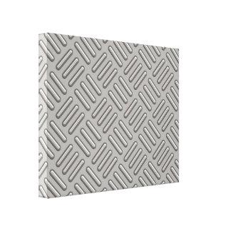 Placa del diamante del metal modelada impresión en lienzo estirada