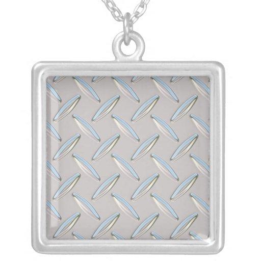 Placa del diamante metálica collar