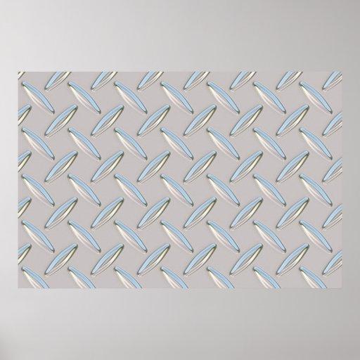 Placa del diamante metálica posters