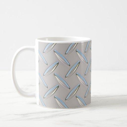 Placa del diamante metálica taza de café