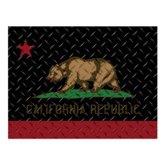 Placa del diamante negro de la república de Califo Postal