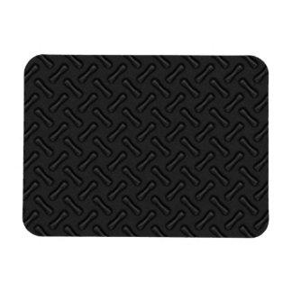 Placa del diamante negro modelada imán