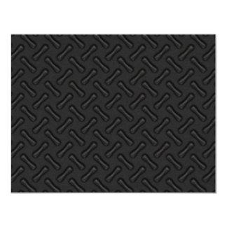 """Placa del diamante negro modelada invitación 4.25"""" x 5.5"""""""