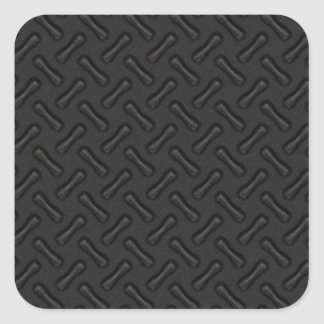 Placa del diamante negro modelada pegatina cuadrada