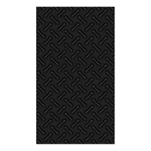 Placa del diamante negro modelada tarjeta de visita