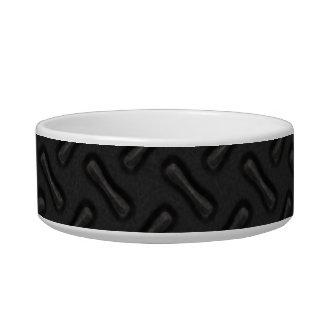 Placa del diamante negro modelada tazón para agua para gatos