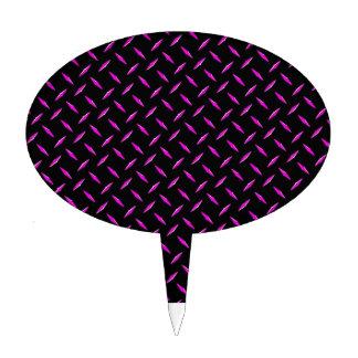 Placa del diamante rosado y negro palillos de tarta
