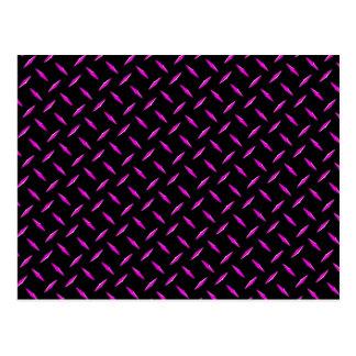 Placa del diamante rosado y negro tarjeta postal