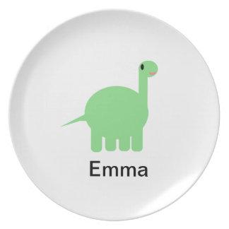 Placa del dinosaurio de Shirley Plato De Cena