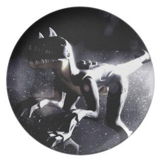 Placa del dinosaurio platos para fiestas