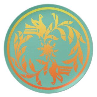 Placa del diseño de Cochiti del nativo americano Plato Para Fiesta