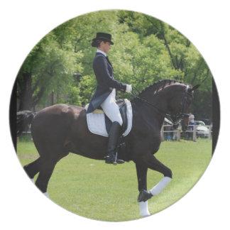 Placa del diseño del caballo del Dressage Platos