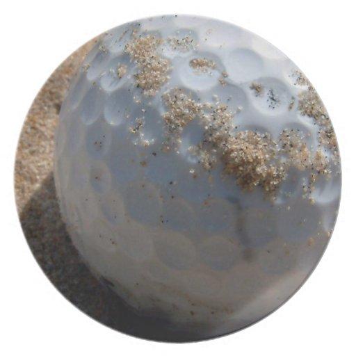 Placa del diseño del hoyo de arena del golf platos de comidas