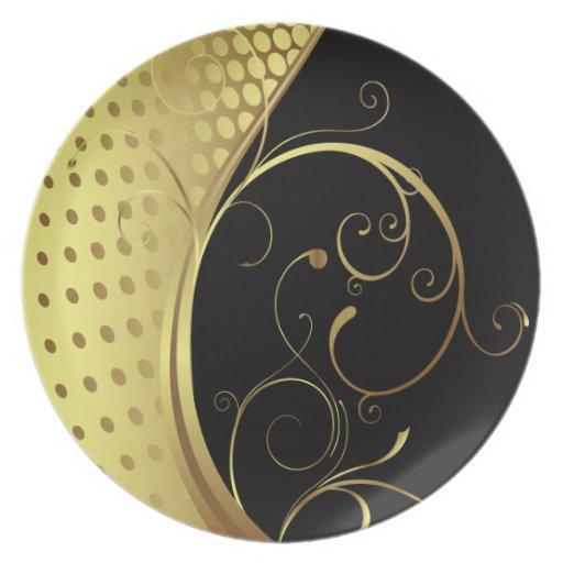 Placa del diseño gráfico 2 platos