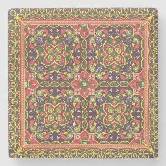Placa del diseño para las alfombras, de 'artes ind posavasos de piedra