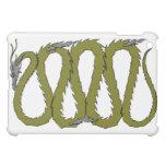 Placa del dragón de acero y verde