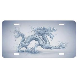 Placa del dragón de agua placa de matrícula