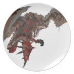 Placa del dragón platos para fiestas
