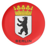 Placa del escudo de armas de Berlín Plato Para Fiesta