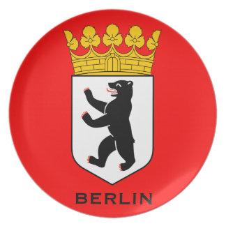 Placa del escudo de armas de Berlín Platos