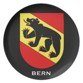 Placa del escudo de armas de Bern* Plato De Cena