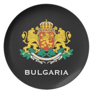 Placa del escudo de armas de Bulgaria* Platos De Comidas
