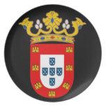 Placa del escudo de armas de Ceuta* Plato De Cena