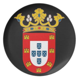 Placa del escudo de armas de Ceuta* Platos De Comidas