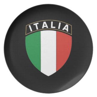 Placa del escudo de Italia Plato