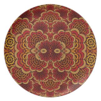 Placa del estilo de la mandala platos