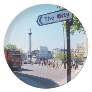 Placa del estilo de Londres Plato Para Fiesta