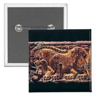Placa del estilo de Ordos, 3ro-2do siglo A.C. Pin Cuadrado