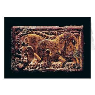 Placa del estilo de Ordos 3ro-2do siglo A C Tarjeta