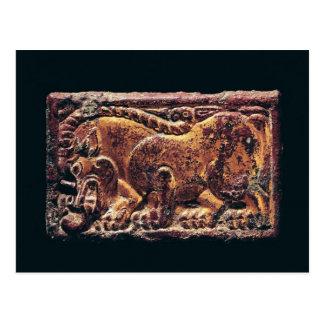 Placa del estilo de Ordos 3ro-2do siglo A C Tarjeta Postal