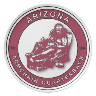 Placa del estratega de la butaca de Arizona Platos De Comidas