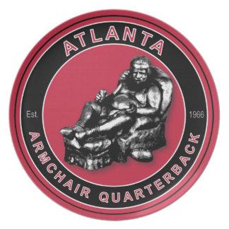 Placa del estratega de la butaca de Atlanta Plato Para Fiesta