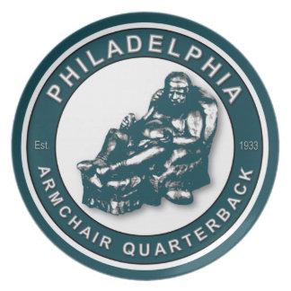 Placa del estratega de la butaca de Philadelphia Platos De Comidas