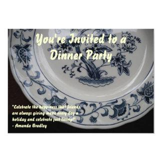 """Placa del fiesta de cena invitación 5"""" x 7"""""""