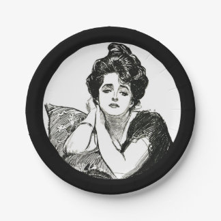 Placa del fiesta del chica de Gibson Platos De Papel