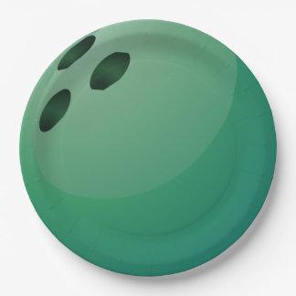 Placa del fiesta del papel del diseño de la bola plato de papel de 9 pulgadas