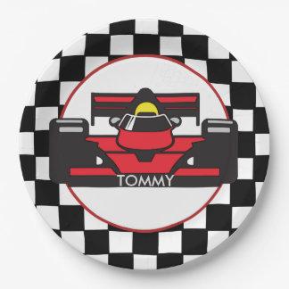 Placa del fiesta del papel del diseño del coche de plato de papel de 9 pulgadas