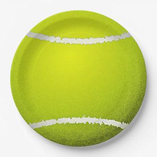 Placa del fiesta del papel del diseño del tenis plato de papel de 9 pulgadas
