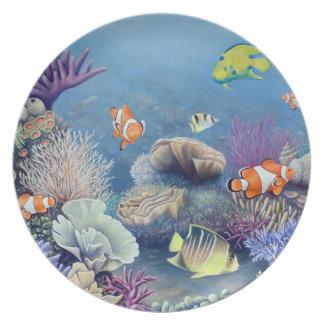 Placa del filón del corral platos de comidas
