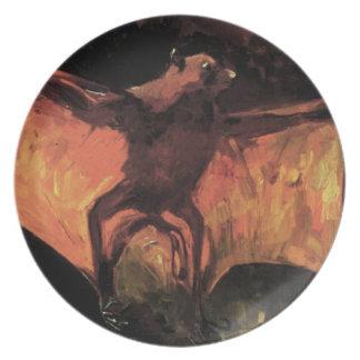 Placa del Fox de vuelo de Van Gogh Plato De Cena