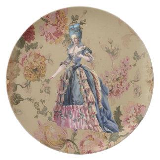 Placa del francés de Marie Plato Para Fiesta