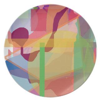 Placa del frenesí de Geo Plato Para Fiesta