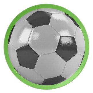 Placa del fútbol platos