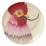 placa del gallo plato de comida