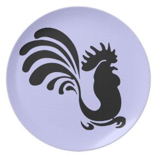 Placa del gallo plato