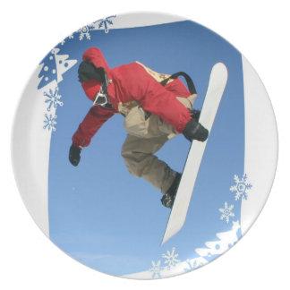 Placa del gancho agarrador de la snowboard plato de cena